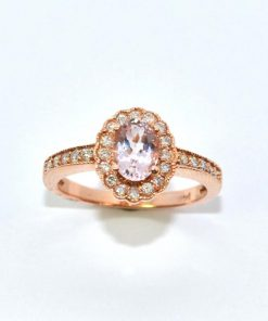 Diamond and Oval Shaped Amethyst Ring