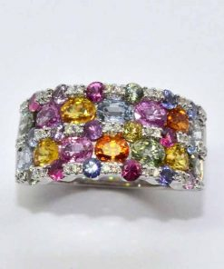 Semi-Precious Diamond Fashion Ring