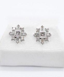 White Gold Diamond Studs