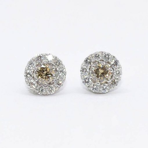 Fancy Yellow Diamond Studs
