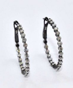 In-Out Diamond Hoop Earrings