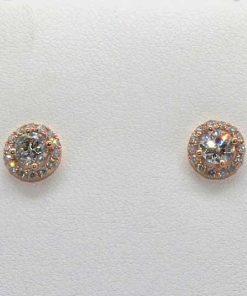 Pink Gold Diamond Studs