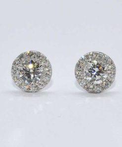 Diamond Round Cut Studs