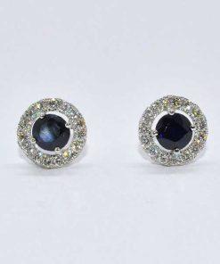 Diamond & Sapphire Studs