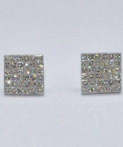 Princess Cut Diamond Studs