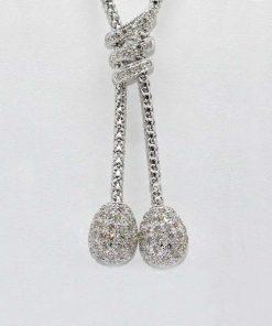 Diamond Pave Lariat Pendant