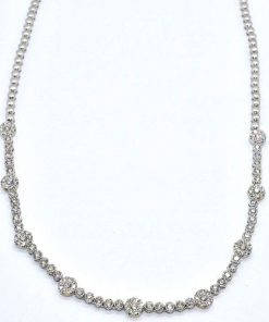 diamond fashion bezel set necklace