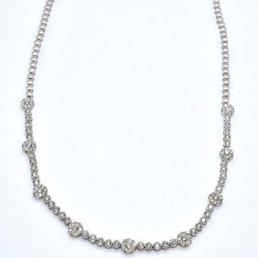 diamond fashion bezel set necklace