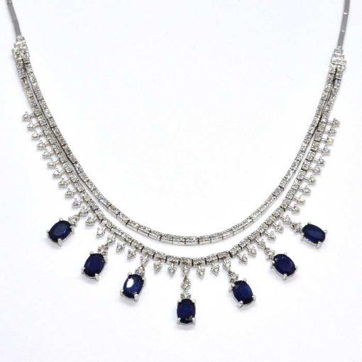 diamond & sapphire fashion necklace
