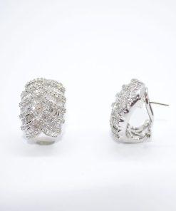 diamond & baguette earrings