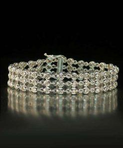 Italian Multi Diamond Bezel Bracelet