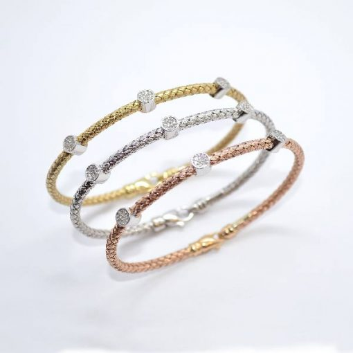 Tri-Color Gold Bracelets