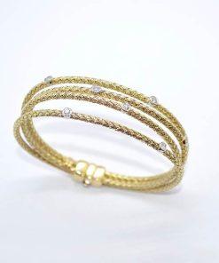 yellow gold diamond bracelet