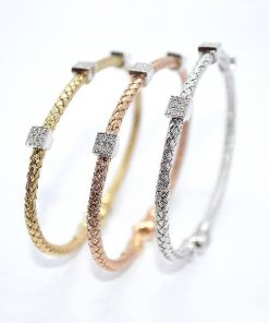 basket weave diamond Bracelets