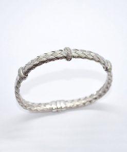 basket weave Diamond Bracelet