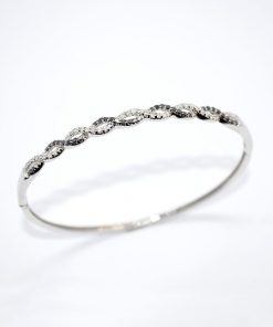 white gold diamong bangle