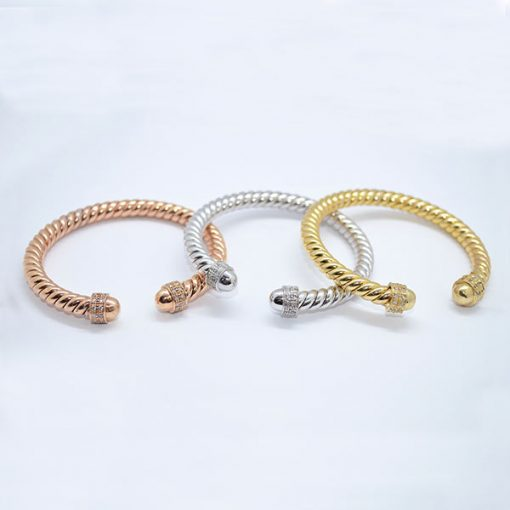 tri-color rope diamond bracelets