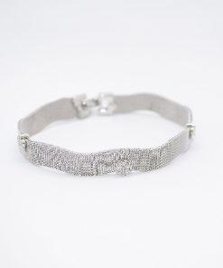 white gold mesh bracelet