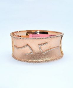 pink gold diamond bangle