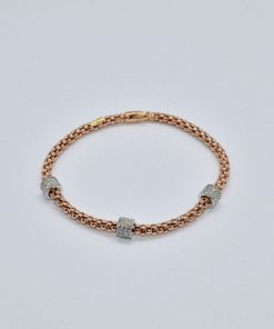 pink gold diamond bracelet