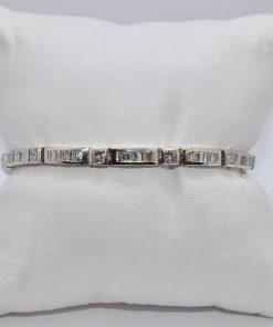 princes cut diamond bracelet