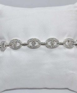 Gold Diamond Cluster Bracelet