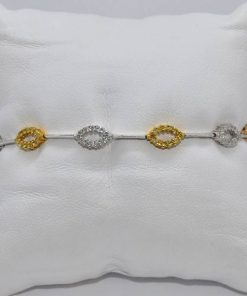 Two-Tone Gold Diamond Bracelet