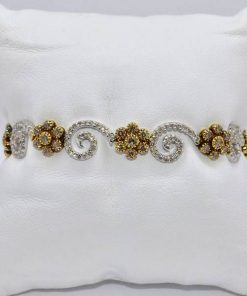 Two Tone Gold Diamond Bracelet