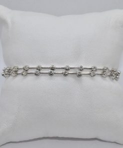 two row diamond bracelet