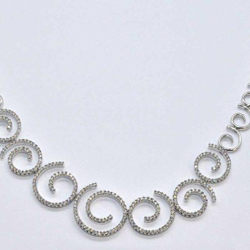 diamond swirl necklace