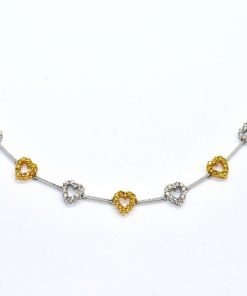 fashion diamond heart necklace