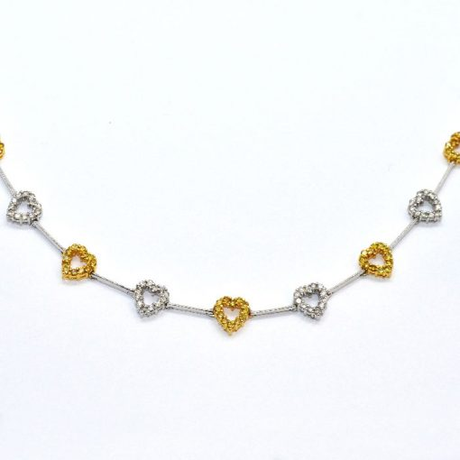fashion diamond heart necklace