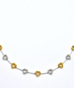 fancy yellow diamond heart necklace