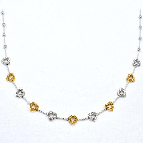 fancy yellow diamond heart necklace