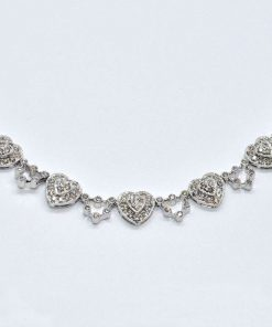 diamond fashion heart necklace