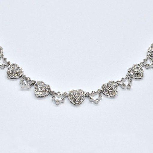 diamond fashion heart necklace