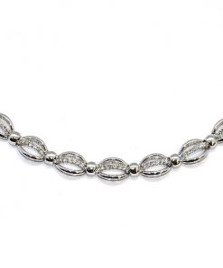 white gold diamond fashion necklace