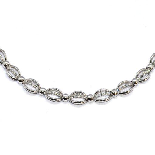 white gold diamond fashion necklace