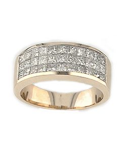 invisible set diamond band