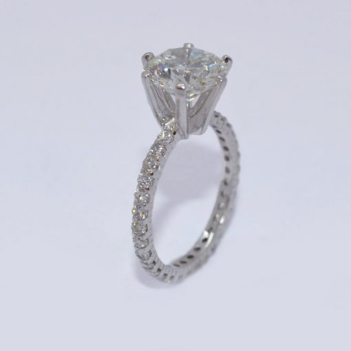 traditional diamond engagement ring