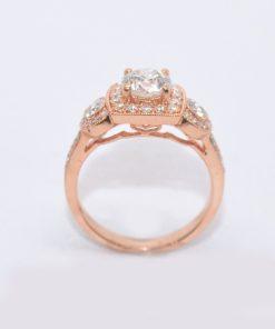 pink gold diamond engagement ring