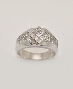 mens diamond ring white gold