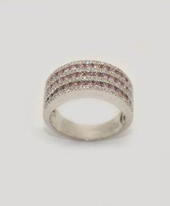 pink & white diamond band