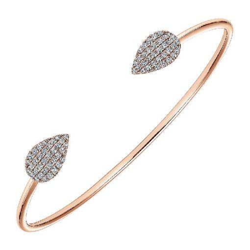14k rose gold bangle