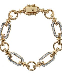 14k Two-Tone Gold Tennis Bracelet