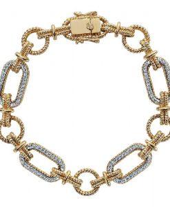 14k Two-Tone Gold Tennis Bracelet