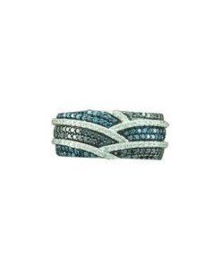 multi color diamond band