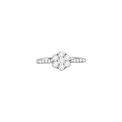 composite cluster diamond ring