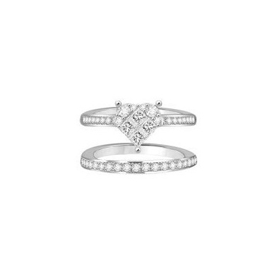 cluster diamond ring & band