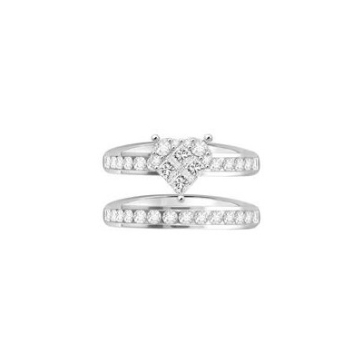 diamond cluster ring with band